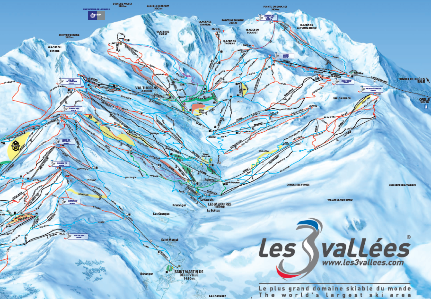 Les 3 Vallees Map